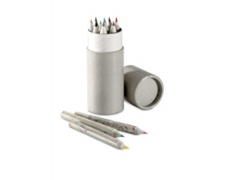 Ekologické barevné pastelky JOLIE v tubě, 12 ks pastelek - šedá
