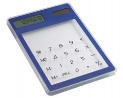 Průhledná solární kalkulačka COCCI - modrá