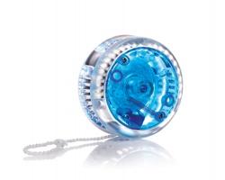 Plastové jojo ROLF se světlem - modrá