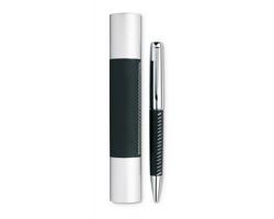Kovové kuličkové pero KENT v pouzdru - černá