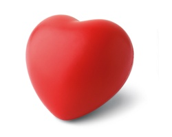 Antistresový míček LOREN ve tvaru srdce - červená