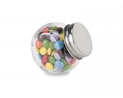 Čokoládové bonbóny KRISTLE ve skleněné dóze, 30g - stříbrná