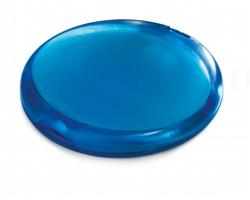 Plastové kapesní pouzdro VIVIANA s mýdlovými tamponky, 25 ks - transparentní modrá