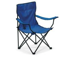 Skládací outdoorová židle TYLER s opěrkami - modrá