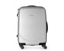 Cestovní kufřík STOA se čtyřmi kolečky - matně stříbrná