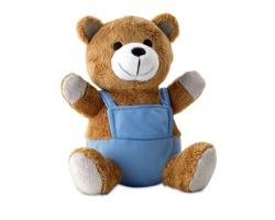 Plyšový medvěd WANEY v kalhotách - modrá