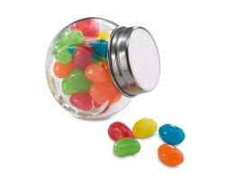 Barevné bonbóny LITTLETON ve skleněné dóze - vícebarevná