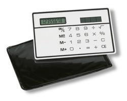Solární kalkulačka LAVONDA s pouzdrem, 8 místná - bílá
