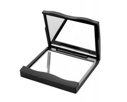 Kosmetické zrcátko SIBYLA se zvětšovacím zrcadlem - černá