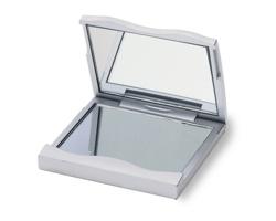 Kosmetické zrcátko SIBYLA se zvětšovacím zrcadlem - stříbrná