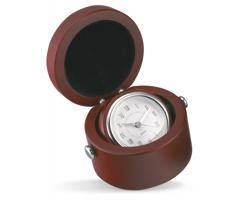 Stolní hodiny DWAIN v dřevěném boxu - hnědá (dřevo)