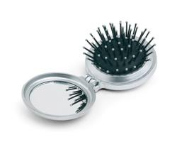 Skládací hřeben na vlasy ARLEN se zrcátkem - stříbrná