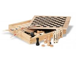 Sada 4 her GAMY v dřevěné krabici - hnědá (dřevo)