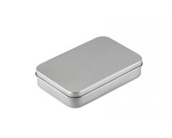 Hrací karty DARON v pouzdru - matně stříbrná