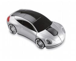 Plastová bezdrátová myš GAPER ve tvaru auta - matně stříbrná