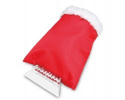Plastová škrabka BABETTE na okna s rukavicí - červená