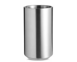 Nerezová chladící nádoba GOOF na víno - matně stříbrná