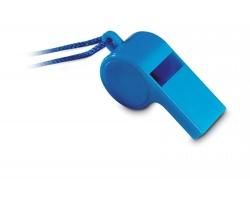 Plastová píšťalka JAPED se šňůrkou - modrá