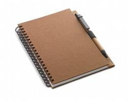 Ekologický zápisník SLANG s kuličkovým perem, formát A5 - hnědá
