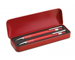 Sada pera a mikrotužky LIONEL v kovovém boxu - červená