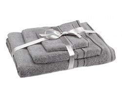 Bavlněná sada ručníků ADAIR, 3 kusy - šedá