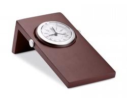 Dřevěné stolní hodiny MICHAL - hnědá (dřevo)