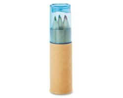 Barevné dřevěné tužky RAMENTA s ořezávátkem - transparentní modrá
