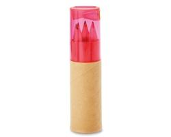 Barevné dřevěné tužky RAMENTA s ořezávátkem - transparentní růžová