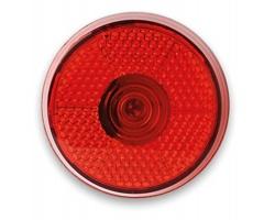 Blikající červené LED světlo ANNAPOLIS s klipem - červená
