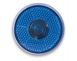 Blikající červené LED světlo ANNAPOLIS s klipem - modrá