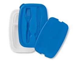 Obědový box ALBERTINE s příbory - modrá