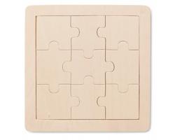 Dřevěné puzzle KIWI, 9 ks - hnědá (dřevo)