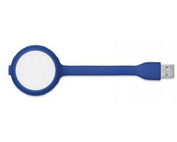 Silikonový USB hub s lampičkou RHONE - královská modrá