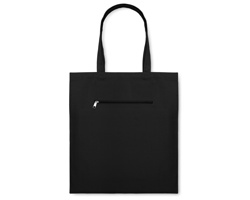 Plátěná nákupní taška WAGS - černá