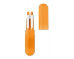 Sada kuličkového pera a mikrotužky ZION v tubě - oranžová
