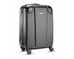 Cestovní taška FIBREOUS na kolečkách - černá