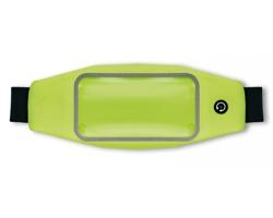 Voděodolná nastavitelná ledvinka KLEI s transparentní kapsou - neonová zelená