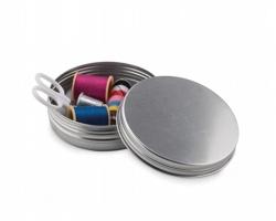 Cestovní šitíčko SEWING v plechové krabičce - matně stříbrná