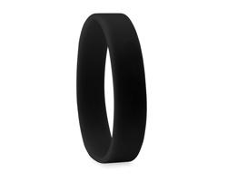 Silikonový náramek SHELL - černá