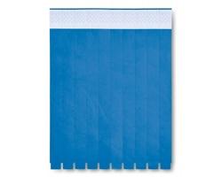 Papírový list festivalových náramků CONCERTO, 10 náramků - královská modrá
