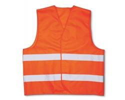 Bezpečností vesta PASKAL s reflexními pásky - oranžová