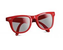 Plastové skládací sluneční brýle GEAR s UV ochranou - červená