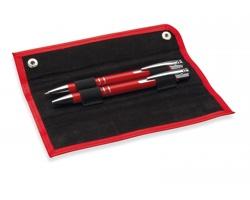Set pera a tužky DIRGE v pouzdře - červená