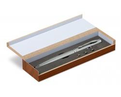 Multifunkční pero MALAGO s laserovým LED ukazovátkem - stříbrná