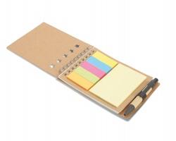 Ekologický zápisník NORAH s perem a lepicími papírky - béžová