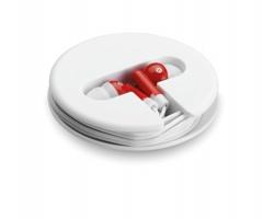 Sluchátka BENITO v silikonovém pouzdru - červená
