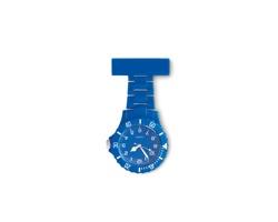 Plastové analogové hodinky SHARYN pro zdravotní sestry - královská modrá