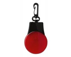 Bezpečnostní LED světlo ALVA s karabinou - červená