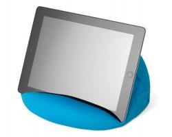 Stojánek na tablet EDMORE z mikrovlákna - modrá