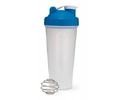Protein šejkr SHAKE, 600ml - modrá